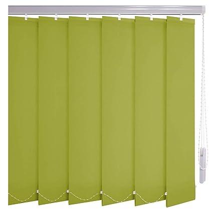 Lamellenvorhang Vertikalanlage Stoff Lamelle 127mm Sonnenschutz bis 180cm Breite