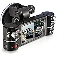 Vahulawa 2.7 F600 HD Dual Camera Lens Car Vehicle DVR Cam Dash Video Recorder 8 IR Lights SOS With Night Vision