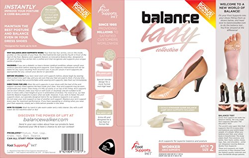 Travel Feet Balance Lady Foot Arch Supports for High Heels-Orthotic Insoles-Shoe Inserts for Women (4W10) by Foot Supports Int'l (Image #1)