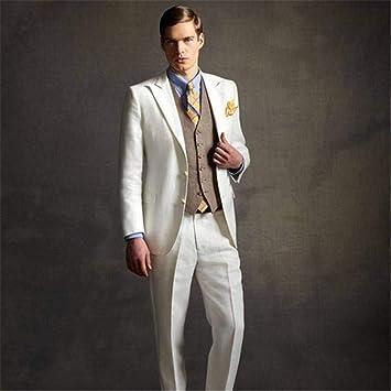 GFRBJK Prom Ivory Brown se Adapta a los Hombres para la Boda ...