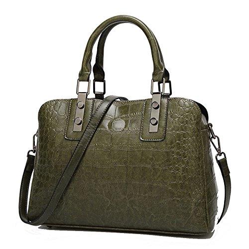 Mode Sac Main Sauvages à Simples Sacs Shopping De Armygreen Femmes ZLLNSXKB Boston Des xtfq0YnExw