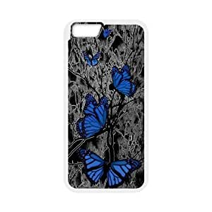 -ChenDong PHONE CASE- For Apple Iphone 6 Plus 5.5 inch screen Cases -Butterfly - Flowers-UNIQUE-DESIGH 5
