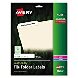 Avery EcoFriendly File Folder Labels for Laser and Ink Jet Printers, 0.66 x 3.43 Inches, White, Permanent, Pack of 750 (48266)