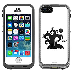 Skin Decal for LifeProof Apple iPhone 5C Case - Black Tree on White