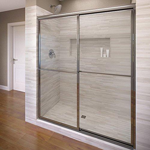 Basco Deluxe Framed Sliding Shower Door, Fits 56-59 - Framed Sliding Door