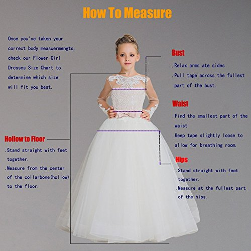 Banfvting Long Flower Girl Dresses With Bow Sashes Lace by Banfvting (Image #5)