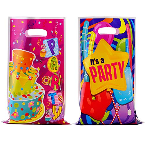 40 Pack Party Favor Bags Plastic Birthday Goodie Bags]()