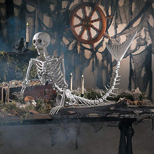 Fun Express - Mermaid Skeleton for Halloween - Home Decor - Decorative Accessories - Home Accents - Halloween - 1 -