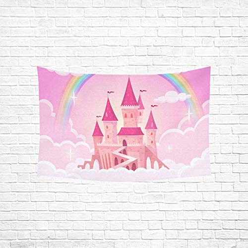 Jnseff Tapestry Castle Princess Fantasy Flying Tale Palace Tapestries Wall Hanging Flower Psychedelic Tapestry Wall Hanging Indian Dorm Decor for Living Room Bedroom 6040inch