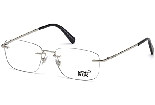 aaa2877696e6 Amazon.com: Montblanc Rx Eyeglasses - MB0561 016 - Palladium/Black ...