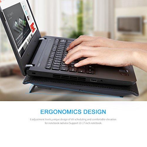 Laptop Cooling Pad,LESHP USB Laptop Fan (6 fans) by LESHP (Image #3)