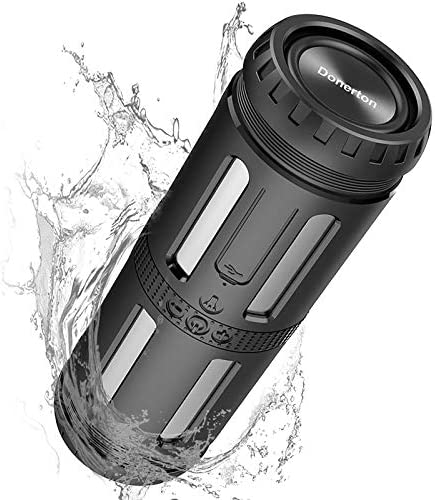MuGo Bluetooth Speaker, 20W Transportable Speaker with Wealthy Bass, Waterproof Bluetooth Audio system with 5200mAh Energy Financial institution, Twin-Driver, Constructed-in Mic, Dustproof, Shockproof, 24 Hrs for Residence Outside, 33 Ft