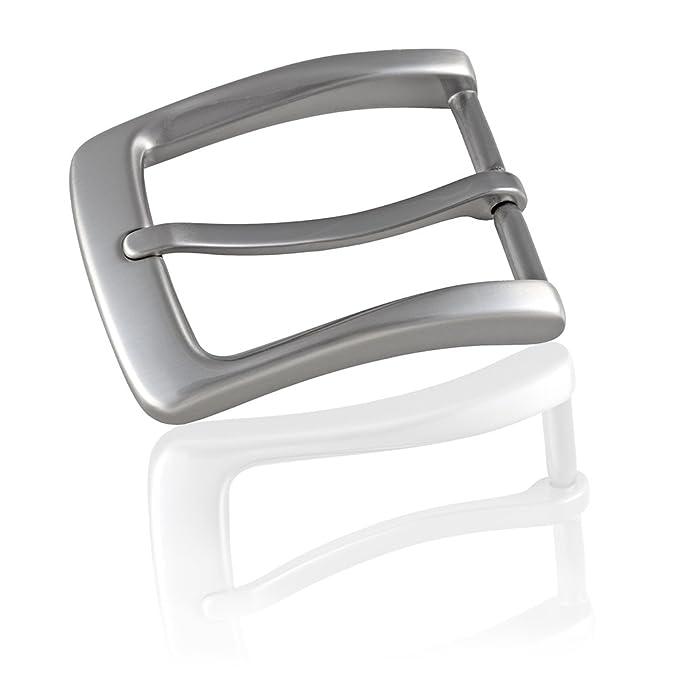 11240fe56a64af Gürtelschnalle Buckle 35mm Metall Silber Anthrazit - Buckle Maxime -  Dornschliesse Für Gürtel Mit 3,