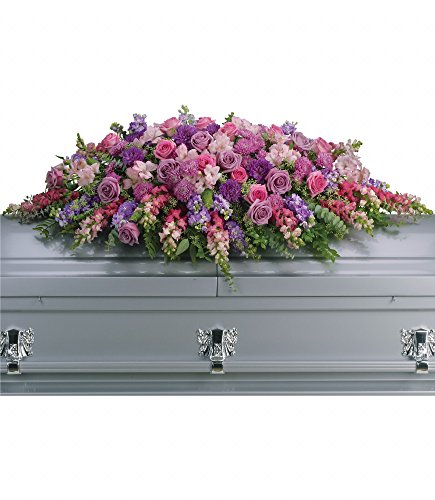 Sympathy Spray (Chicago Flower Co. - Lavender Tribute Casket Spray - Fresh and Hand Delivered)