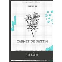 CARNET DE DESSIN: Cahier de dessin pro A4 100 pages (French Edition)