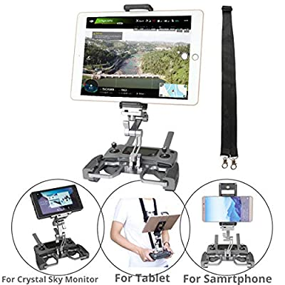 RCGEEK Compatible with DJI Mavic Mini Mavic 2 Pro/Zoom Spark Mavic Air Drone Remote Controller 10 inch Tablet Mount Extender Holder with Lanyard fit for Crystal Sky Monitor (Grey): Camera & Photo