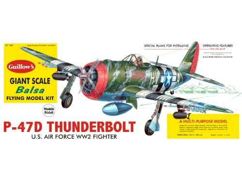 Guillow's P-47D Thunderbolt Model Kit, used for sale  Delivered anywhere in USA