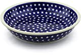Polish Pottery 13-inch Bowl (America The Beautiful Theme) + Certificate of Authenticity