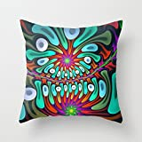 geometry pillow covers 16 x 16 inches / 40 by 40 cm best choice for gf,sofa,birthday,play room,kids girls,monther with twice sides