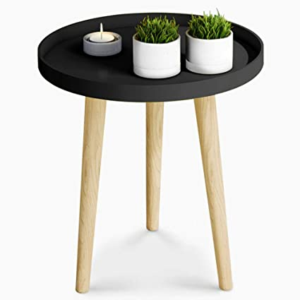 ZAYBJ XRXY Side Table, Simple Solid Wood Mini Small Round Table Bedroom  Table Corner Bedside