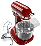 : KitchenAid KSM500PSER Pro 500 Series 10-Speed 5-Quart Stand Mixer, Empire Red