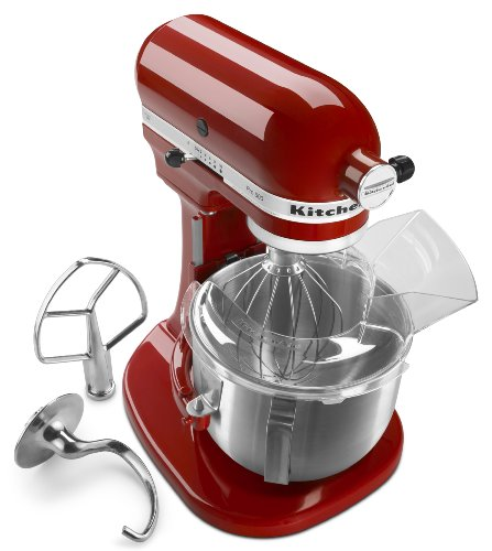 KitchenAid KSM500PSER Pro 500 Series 10-Speed 5-Quart Stand Mixer, Empire Red by KitchenAid