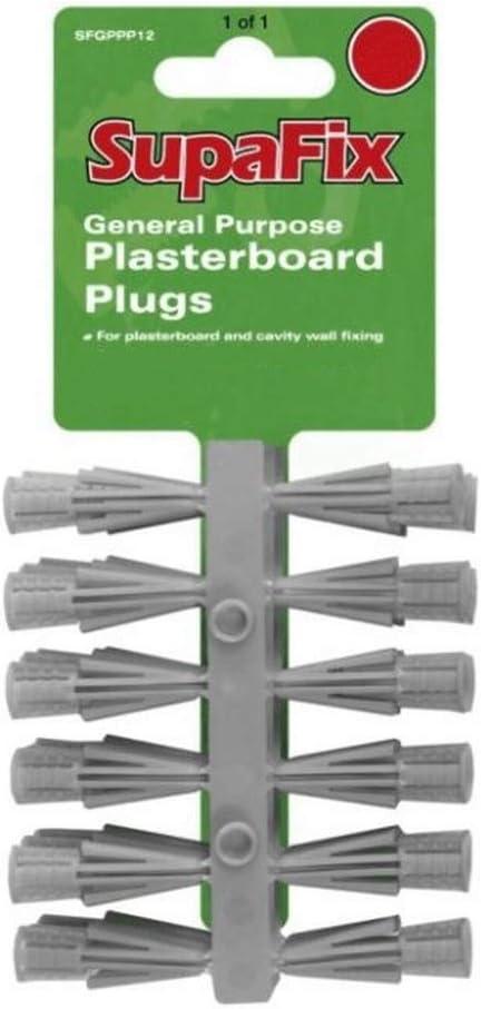 SupaFix General Purpose Plasterboard Plugs Pack 24