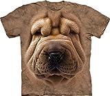 The Mountain Men's Big Face Shar Pei Puppy T-Shirt, Brown, X-Large