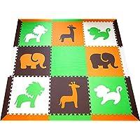 SoftTiles Interlocking Children's Foam Play Mats- Safari...