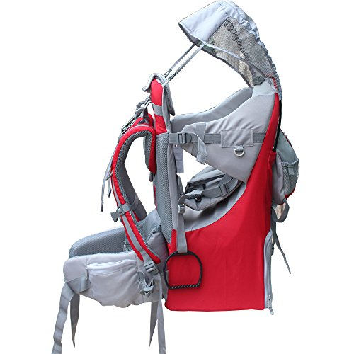 New Baby Toddler Hiking Backpack Carrier Stand Child Kid Sunshade Visor Shield Shield (red)