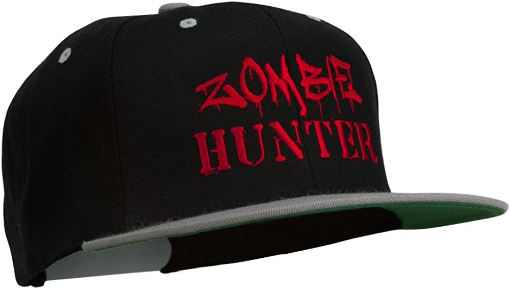 Halloween Zombie Hunter Embroidered Snapback Cap