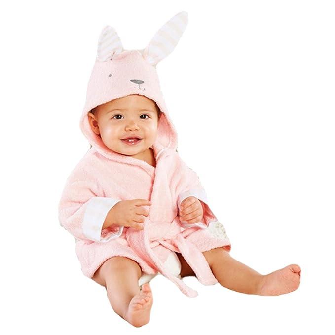Tkria Bebés Niña Infantil del bebé Albornoces Albornoz Para Niños toalla con capucha Playa del baño