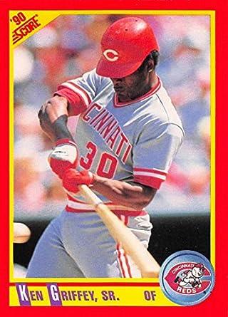 cb58d973bc Amazon.com: 1990 Score #338a Ken Griffey Sr. Reds Error (Uniform #25 ...