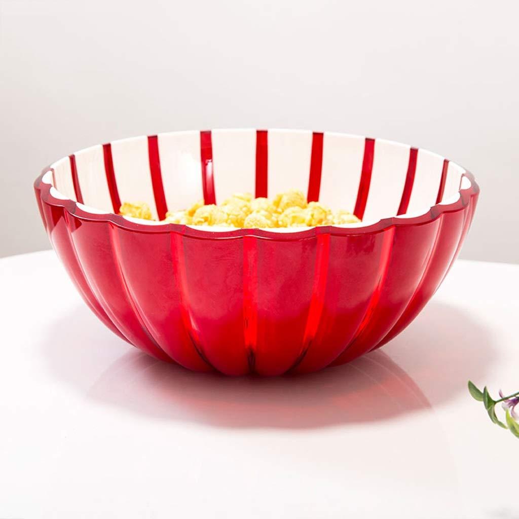 Sdvh フルーツボウル、ヨーロッパ収納バスケットデザートボウルサラダボウルクリエイティブフルーツプレートドライフルーツプレートスナックプレート用キッチン (色 : 赤, サイズ さいず : 20*8.5cm) 20*8.5cm 赤 B07QJ8CSN5