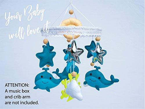 bdf7d19d186dc Baby Mobile Felt Nursery Crib Mobile Handmade Baby Shower Gift for Boy  (Ocean)