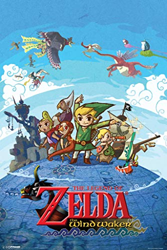 Pyramid America Legend Zelda Wind Waker Character Map Video Game Cool Wall Art Poster 12x18 inch