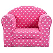 Costzon Kids Sofa Armrest Chair Couch Children Living Room Toddler Furniture (Heart, Pink)