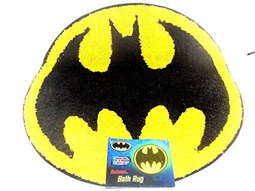 Batman Bathroom Set Shower Curtain Hooks Bath Rug Towel Pump
