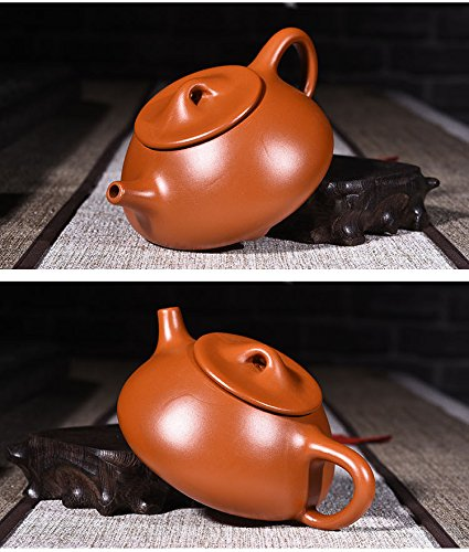 Yixing Zisha Teapot Handmade Chinese Kungfu Tea Set 200ML/240ML (purplish red)