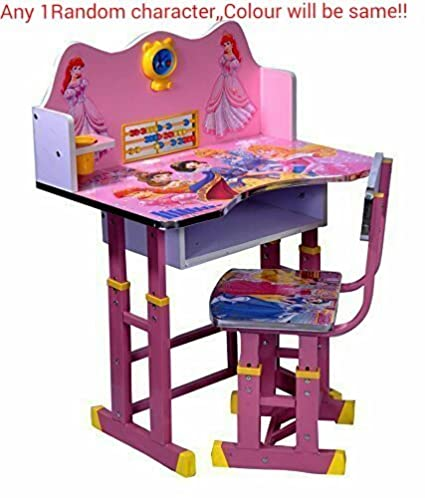 Beau Ratna International Princess Character Wooden Study Table For Boys And Girls  (Dark Pink): Amazon.in: Electronics