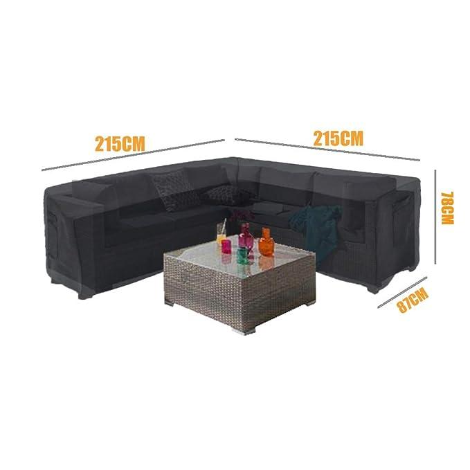 215 x 215 x 85 x 78 cm Impermeabile Protezione per Tutte Le Condizioni atmosferiche a Forma di V Linkool Copridivano angolare per mobili da Giardino
