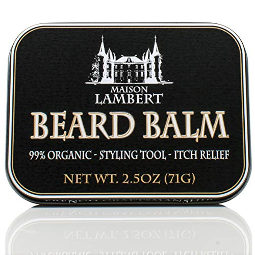 Maison Lambert Organic Beard Balm -Beard Balm Leave-in Conditioner – All Natural – Organic Oils and Butters 2 Oz