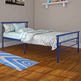 Rack Furniture Seattle Twin Metal Bed Frame, Great for Kids, Blue