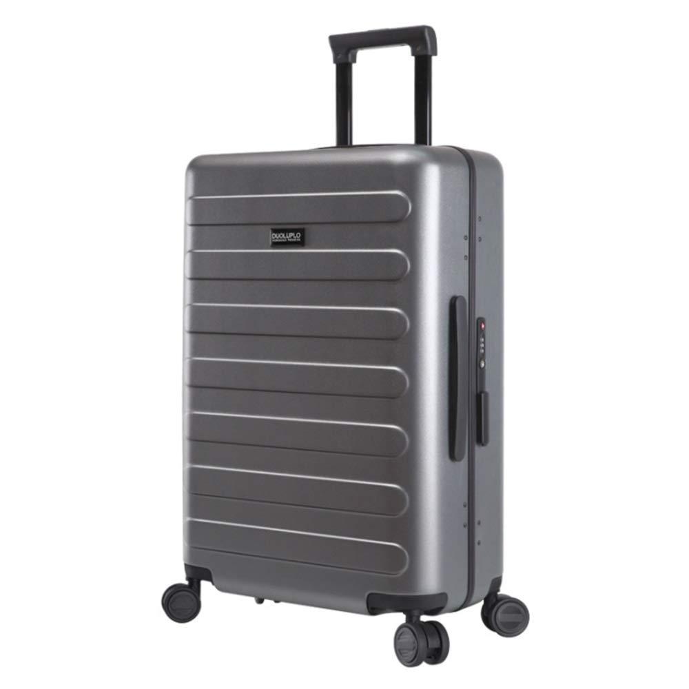 スーツケース アルミニウムフレーム回転子荷物トロリーケース付きTSAロックハードシェル軽量ポータブルコラムボックス360°サイレント回転子多方向航空機 大容量旅行スーツケース (色 : ライトグレー, サイズ : 20inches) B07RSB4442 ライトグレー 20inches