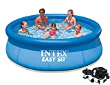 Intex 10′ x 30″ Easy Set Above Ground Swimming Pool with Quick-Fill AC Air Pump Review