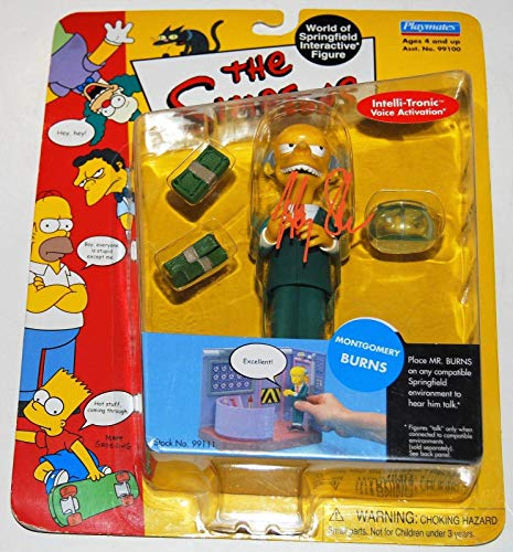 HARRY SHEARER signed (THE SIMPSONS) MONTGOMERY BURNS Toy Figure W/COA ()