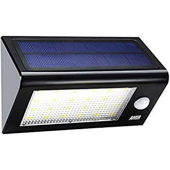 AMIR Solar Lights Outdoor 24 LED Motion Sensor Wall Lights 4 Modes Wireless Garden  sc 1 st  Amazon.com & AMIR Solar Lights Outdoor 24 LED Motion Sensor Wall Lights 4 ... azcodes.com