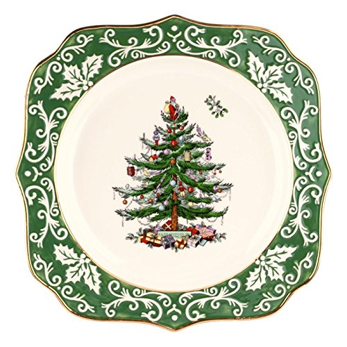 Spode Christmas Tree Dishwasher Safe - Spode Christmas Tree Embossed Scalloped Plate, Gold