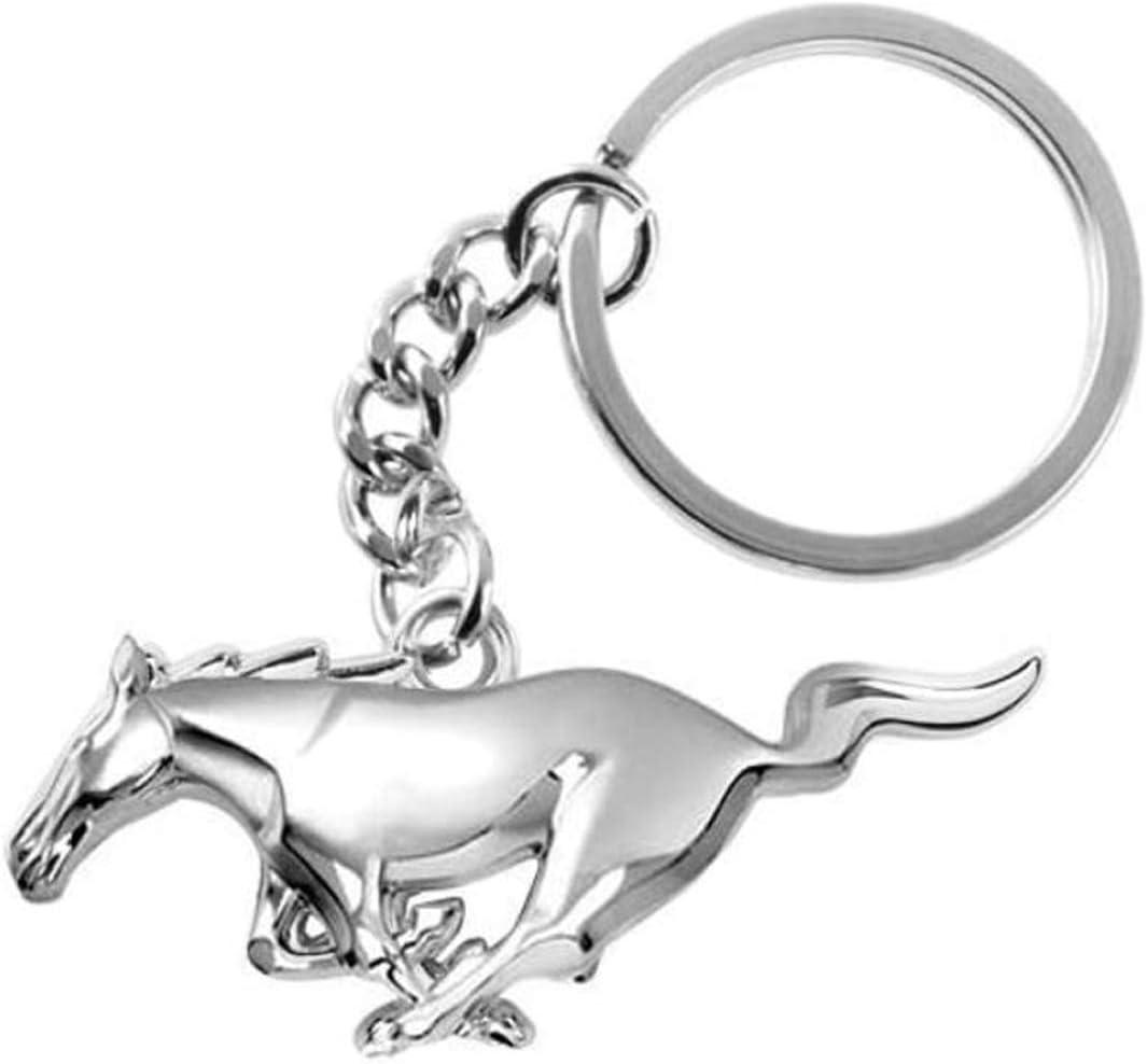 Chrom-Metall Ford Mustang 3D-Pony-Schl/üsselanh/änger