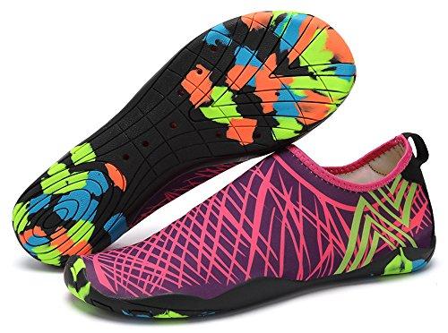 Waltzon Water Schoenen Heren Dames Strand Zwemschoenen Sneldrogend Aqua Sokken Zwembad Schoenen Voor Surf Yoga Rose / Camouflage Zolen